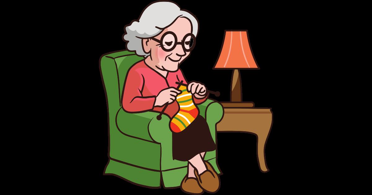 Oma mit Lederhandschuhen gibt Gas