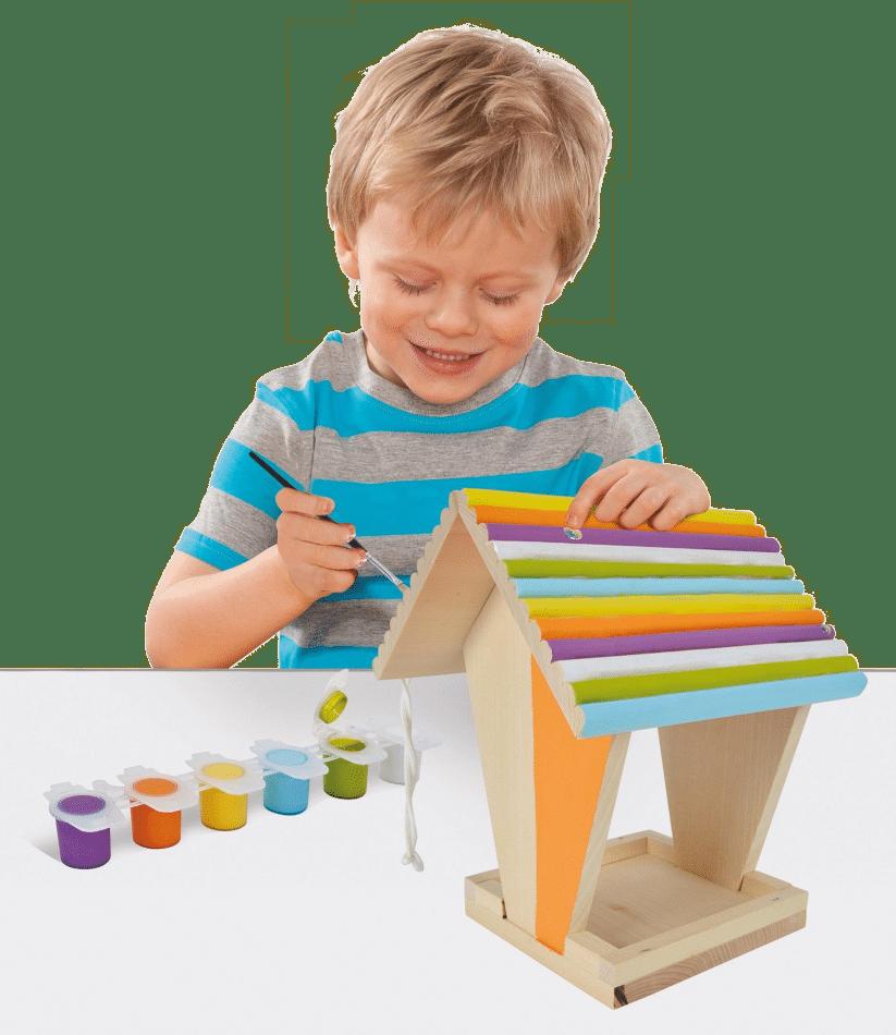 Bausatz Vogelhaus - Geschenk Enkelkind