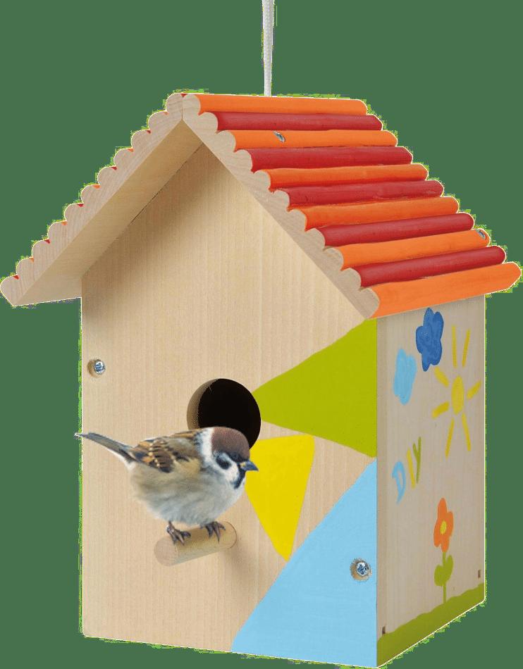 DIY Vogelhaus zum Bemalen - Geschenk Enkel