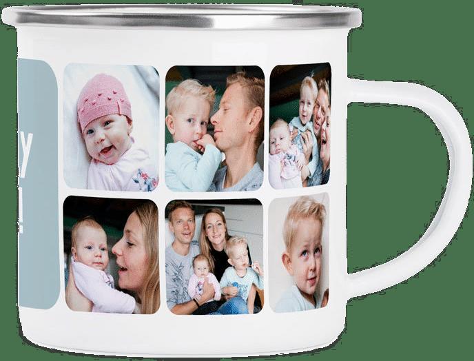Emaille Tasse - Geschenkidee für Opa und Oma