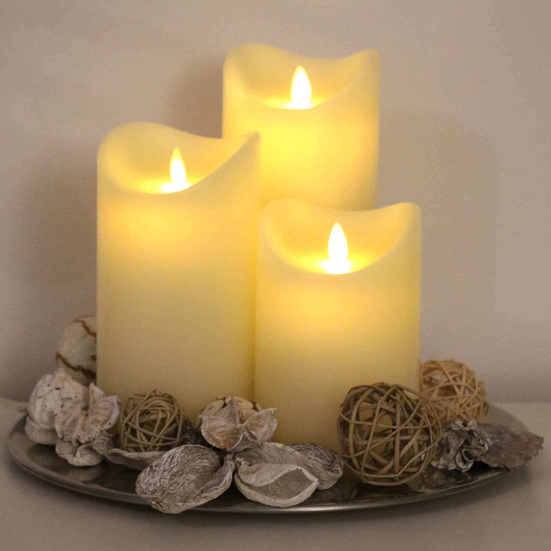 LED Echtwachskerzen - Geschenk für Oma