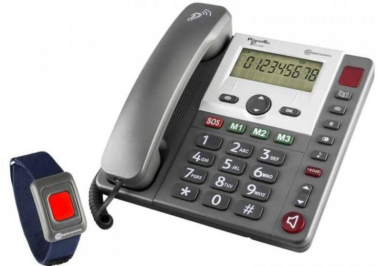 Seniorentelefon mit großen Tasten und Notruffunktion