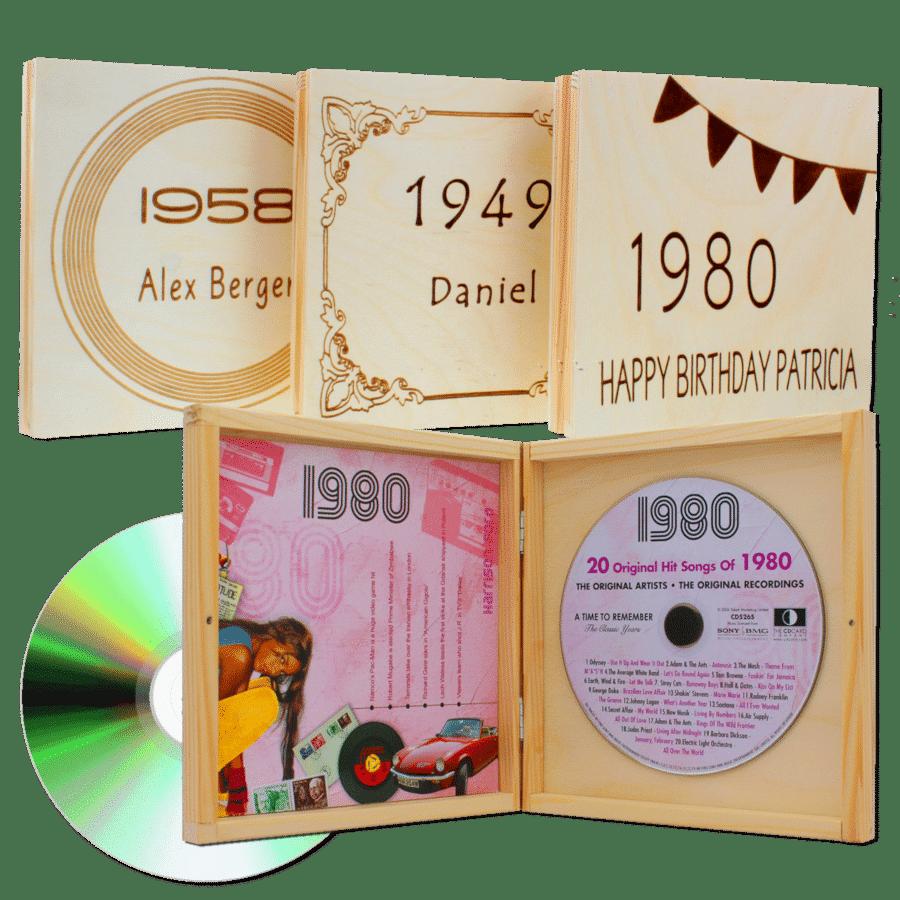 persönlichen Geschenk - Jahrgangsmusik CD