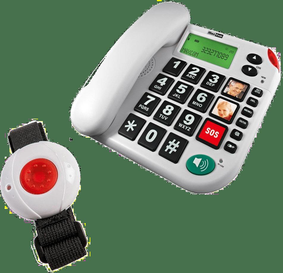 Telefon mit großen Tasten Notruf - Geschenk Senioren