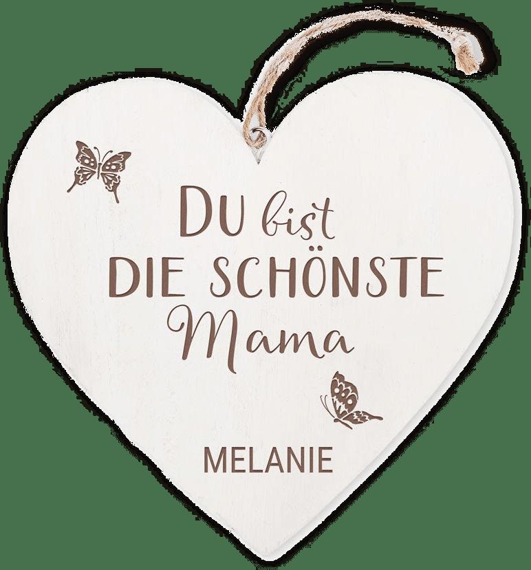 Holzherz - Geschenk zum Muttertag
