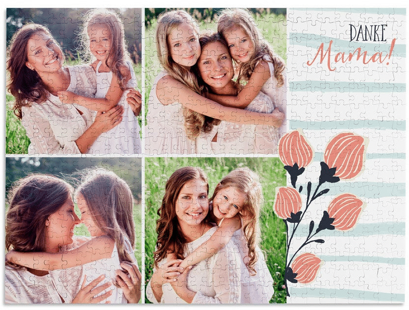 Puzzle mit Foto - Muttertagsgeschenk
