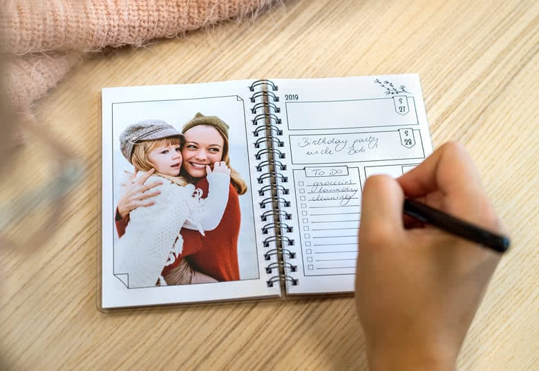 Agenda mit eigenen Fotos - Geschenk für Oma