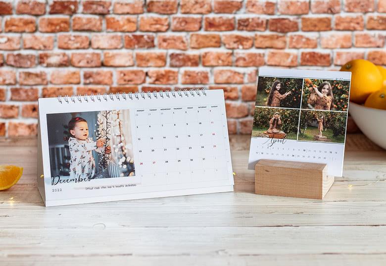 Agenda mit eigenen Fotos - Tischkalender