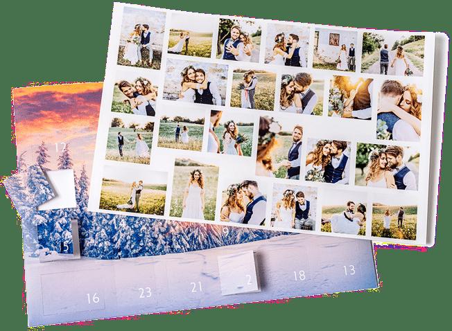 Foto-Adventskalender mit eigenen fotos