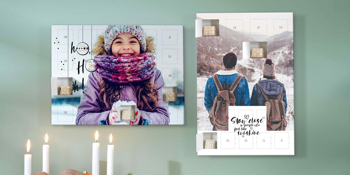 Geschenk für Oma Opa - Adventskalender mit Schokolade