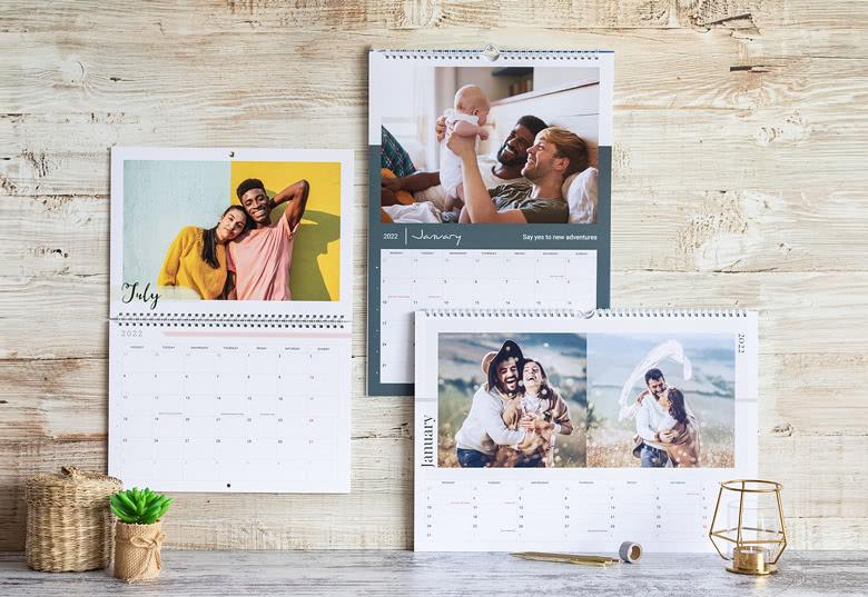 Geschenk für Oma Opa - Kalender mit eigenen Fotos