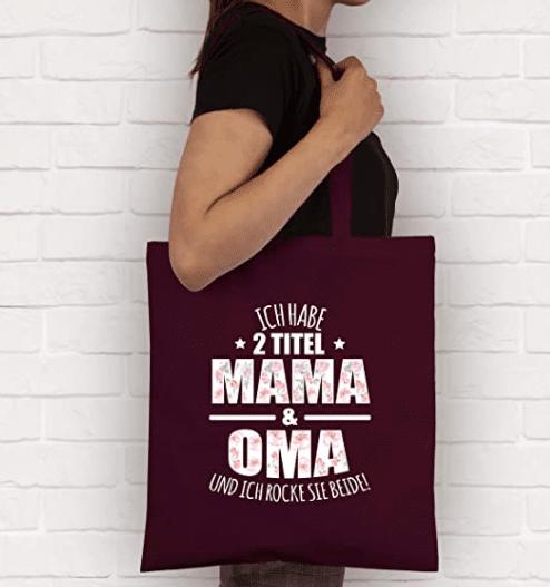Jutebeutel Mama - Geschenk für Mama