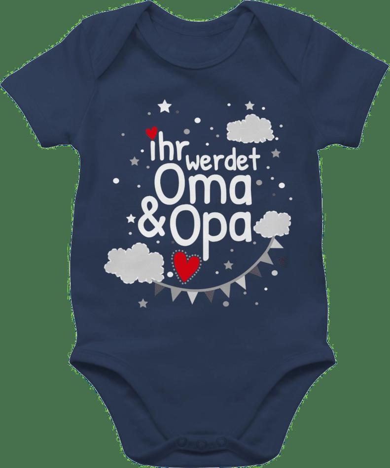 Geschenk für werdende Großeltern - Baby body
