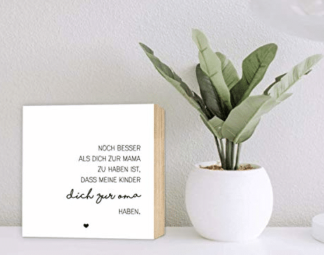 Muttertagsgeschenk für Oma - Holzbild mit Spruch