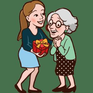 Geburtstagsgeschenk für Großmutter