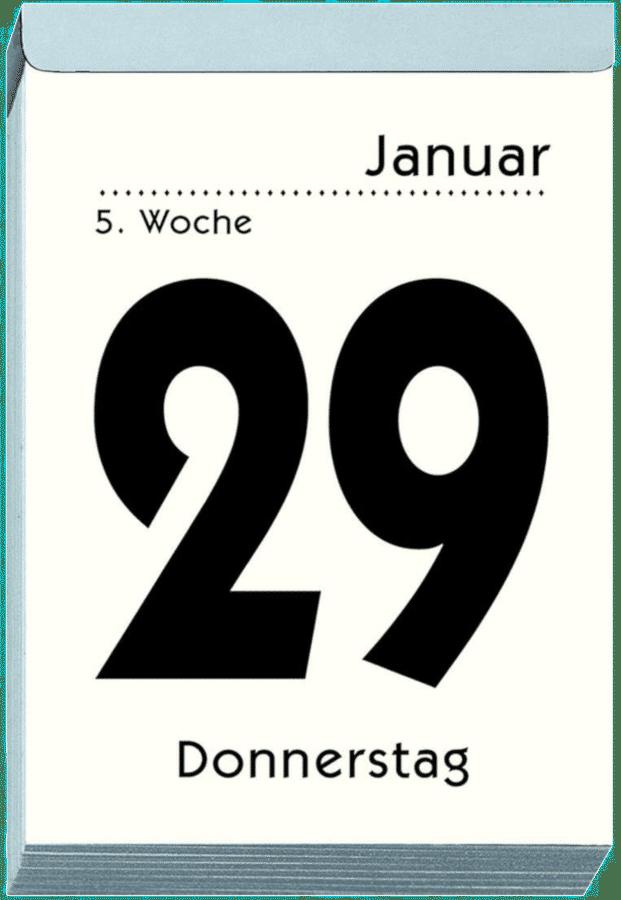 Abreißkalender mit großer Schrift