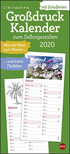 Geschenkidee für Senioren - Großdruck Kalender