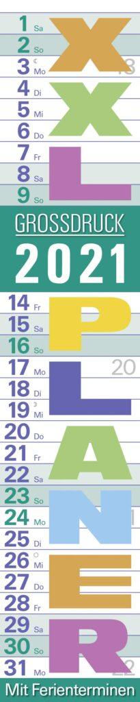 Streifenkalender extra großer Schrift