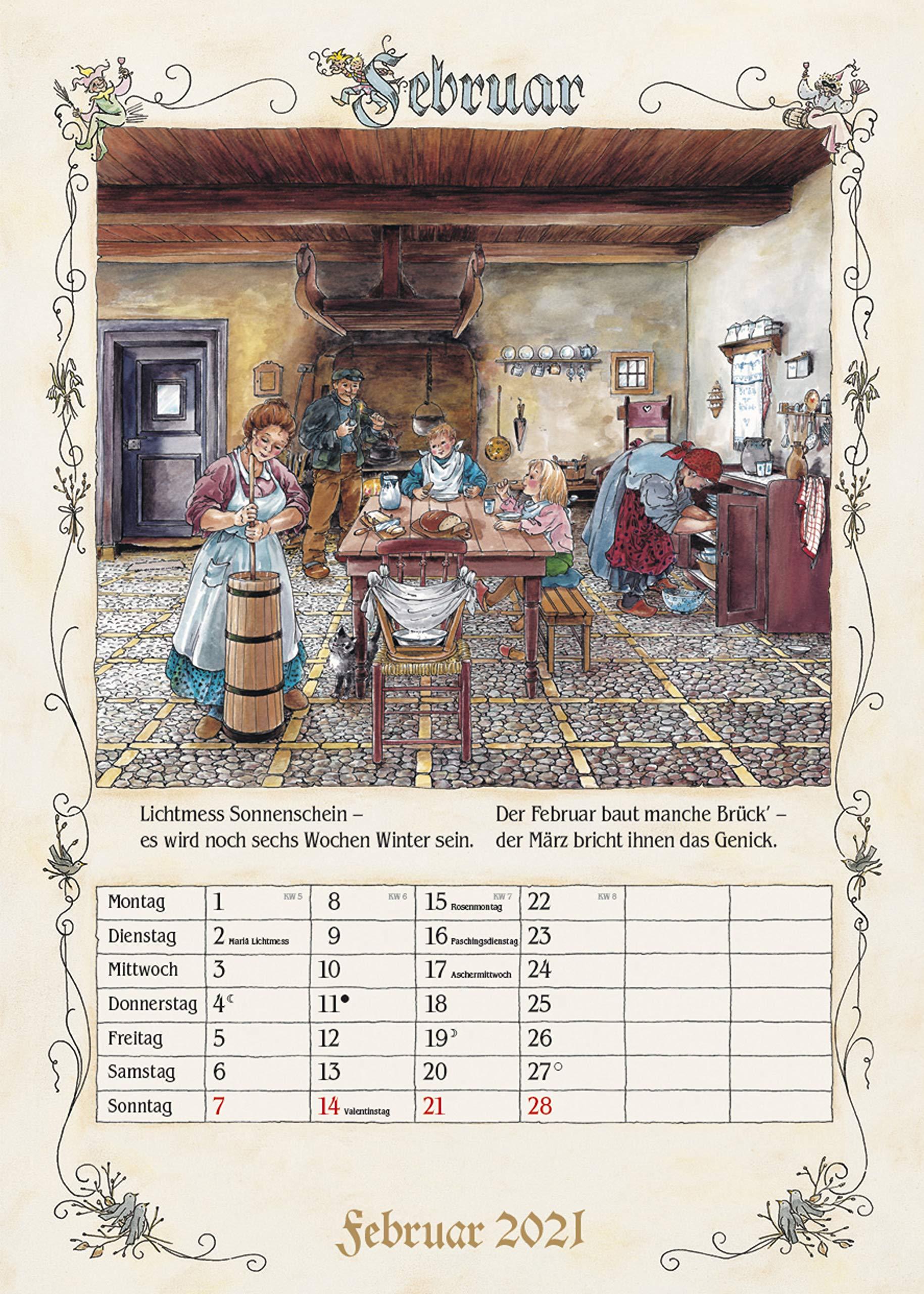 Wandkalender für Oma und Opa - Bauernkalender