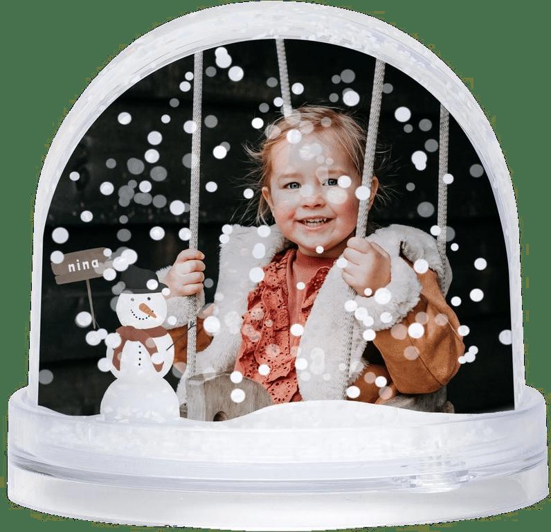 Schneekugel mit Foto - Weihnachtsgeschenk für Oma