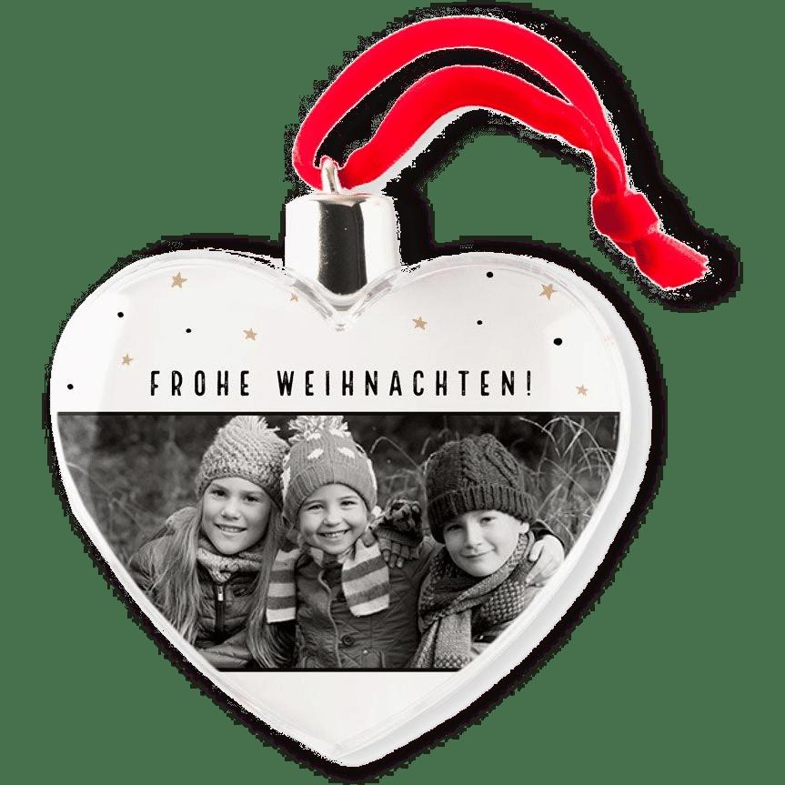 Weihnachtskugeln mit Foto - Geschenk für Oma Opa