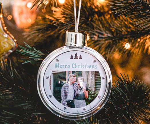 Weihnachtskugeln mit Foto - Geschenk für Oma