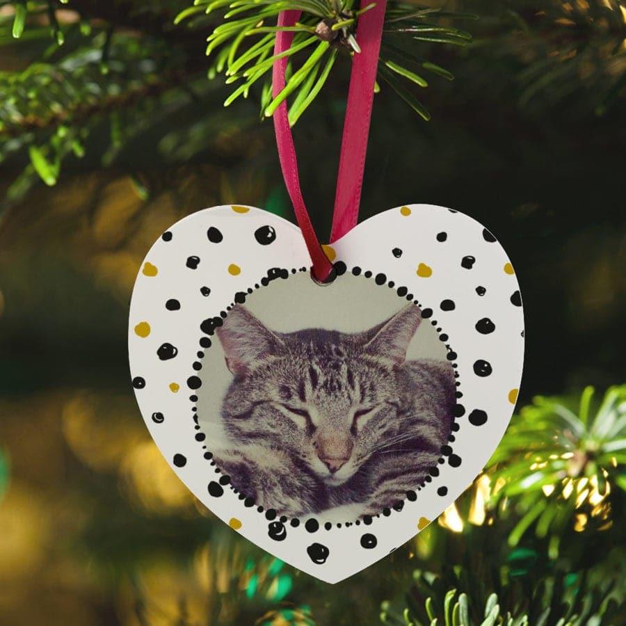 Weihnachtsschmuck mit Foto Text