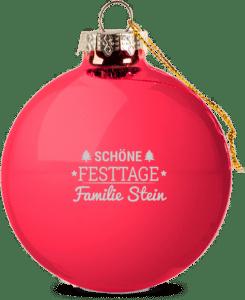 Christbaumkugel mit Namen