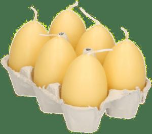 Ostergeschenk Oma von 80 Jahren - Eier-kerzen