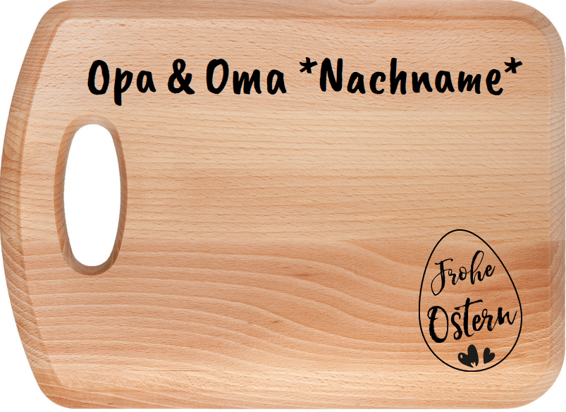 Ostergeschenk für Opa und Oma - Frühstückbrettchen
