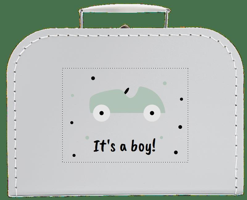Idee Geschlechts-Enthüllungs-Party - Kinderkoffer