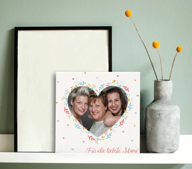 Muttertagsgeschenk - Fliese mit Foto