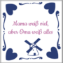 originelles Geschenk für Oma - Fliese mit Foto oder Text
