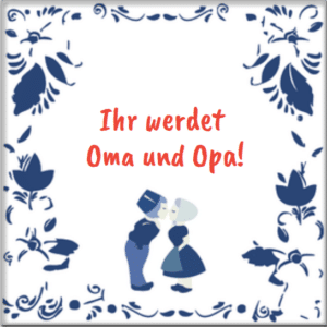 Geschenk für werdende Großeltern - Fliese mit Text