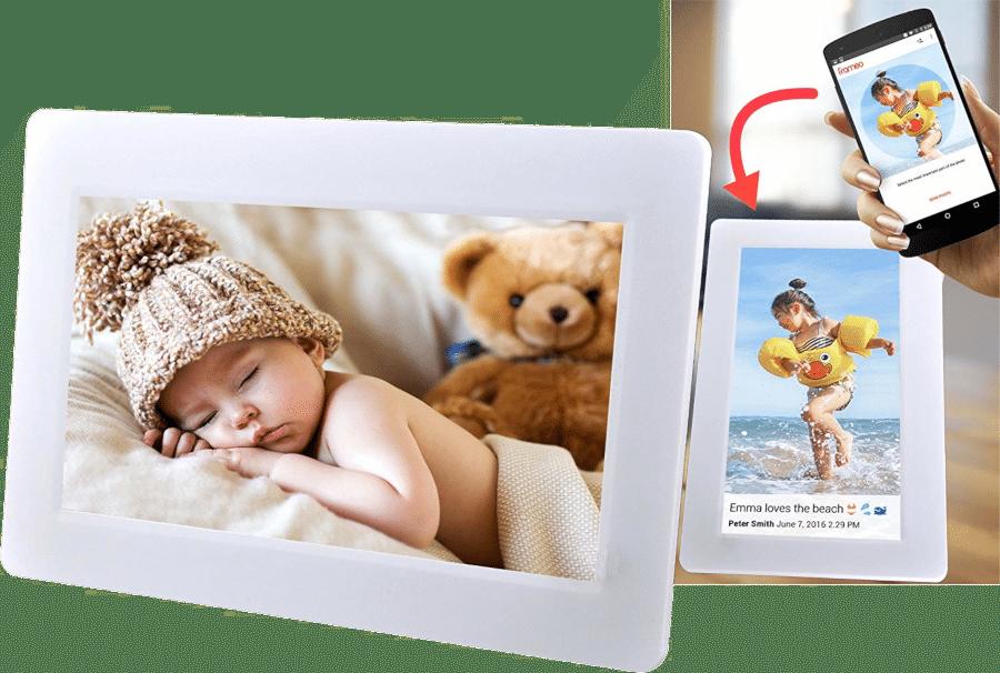 Geschenk für Oma zum 80. Geburtstag - Digitaler Fotorahmen wifi