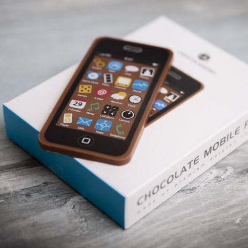 Handy aus Schokolade - Weihnachtsgeschenk Oma
