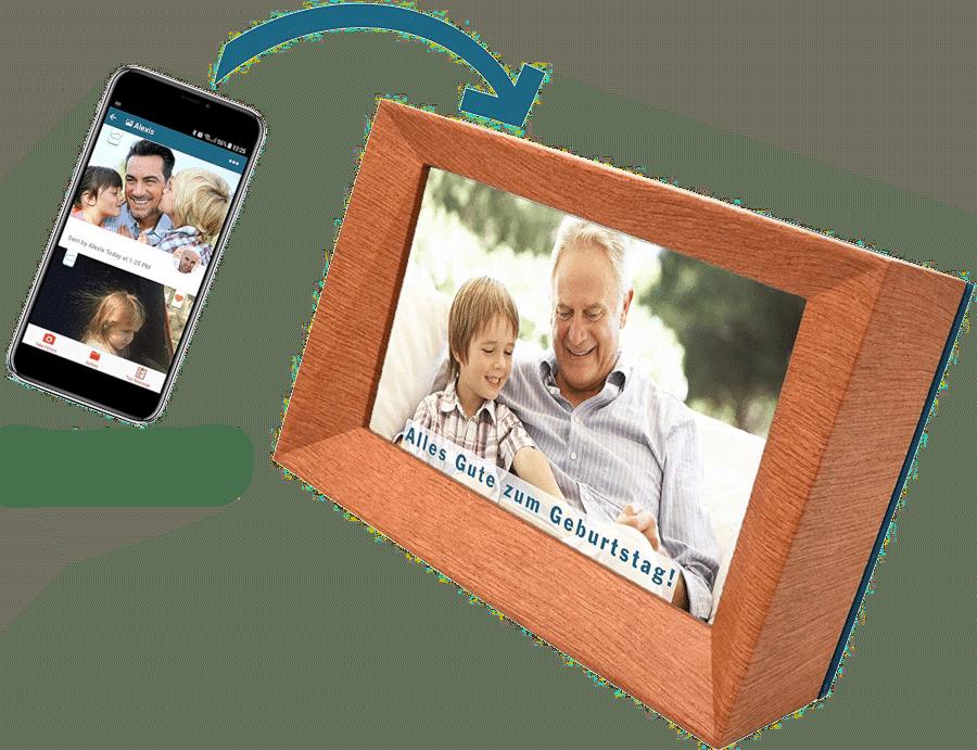 besonderes Geschenk für Oma - Familink digitale Bilderrahmen