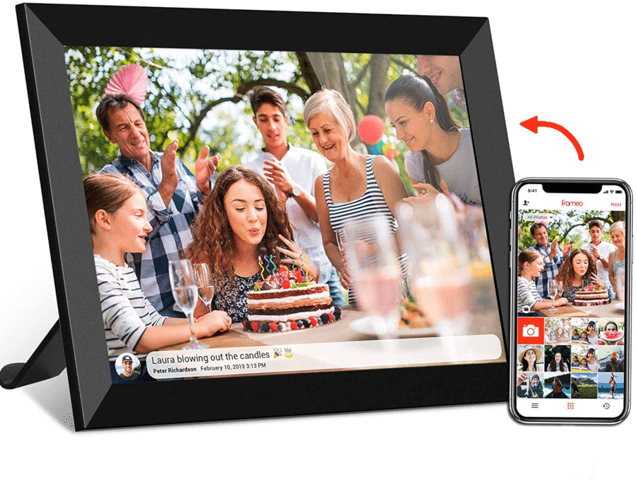 besonderes Geschenk für Oma - digitaler bilderrahmen wifi