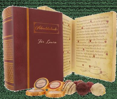 Geschenk zum Advent für Oma - Schokolade Buch