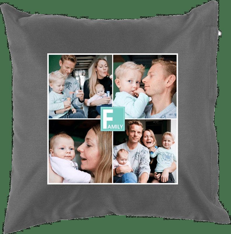 Geschenk für Oma 80 Jahre - Kissen personalisert Foto