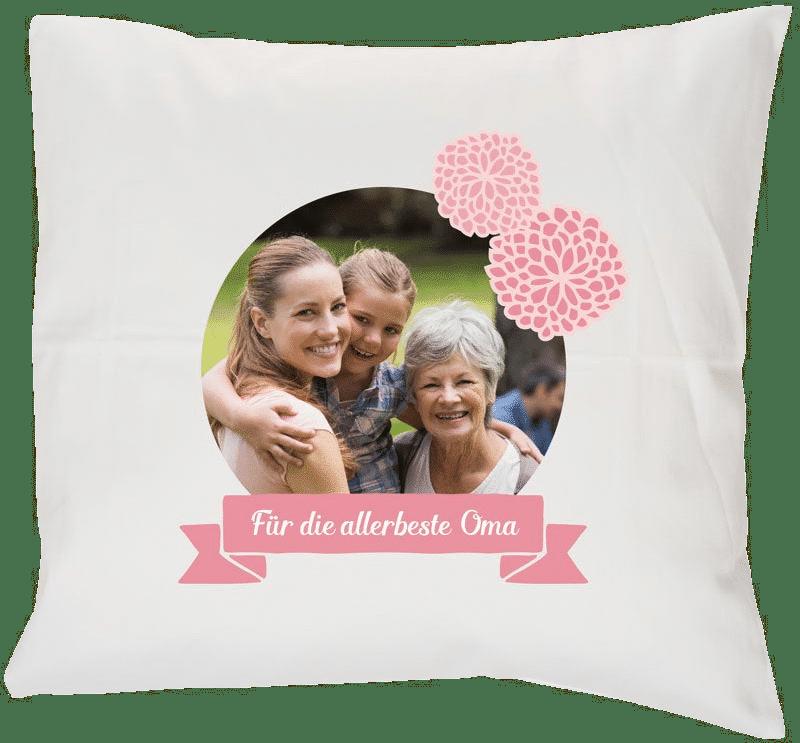Geschenk für Oma zum 80. Geburtstag - Kissen mit Foto