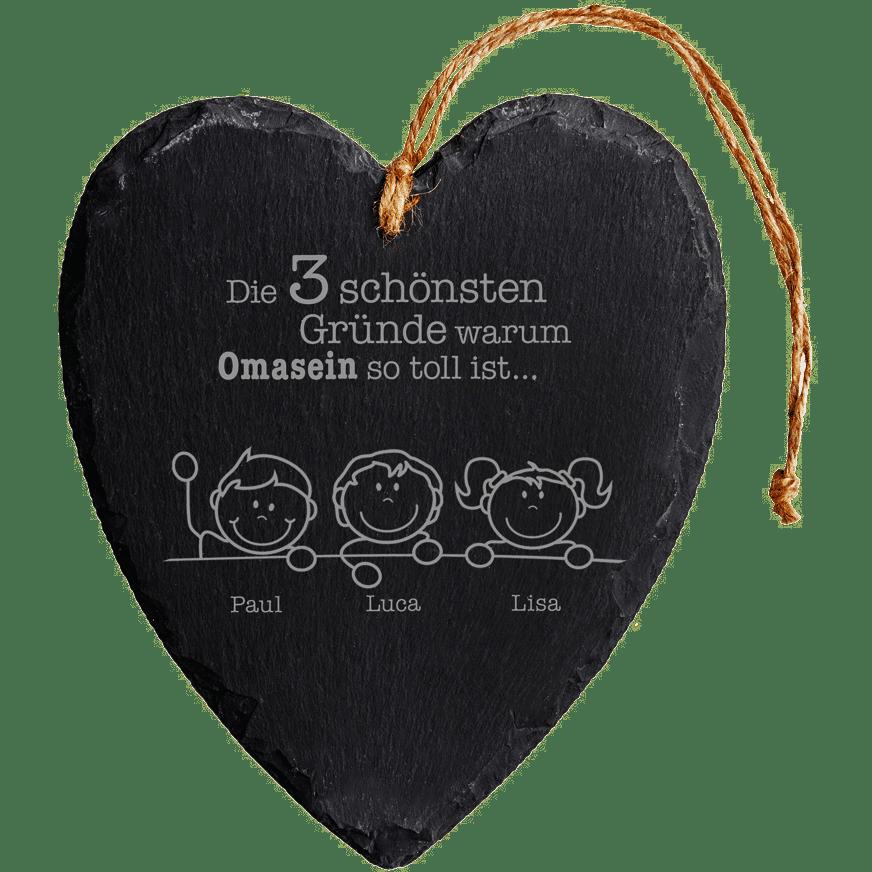 Schieferherz-Geschenk für die beste Oma2