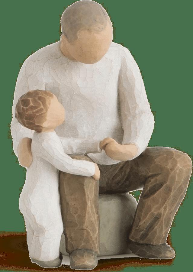 schönes Geschenk für Opa - Figur Opa Enkelkind