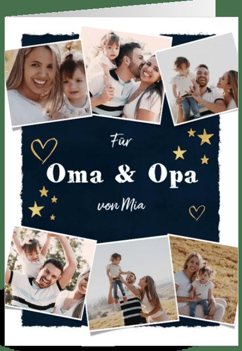 Fotokarte für Opa und Oma