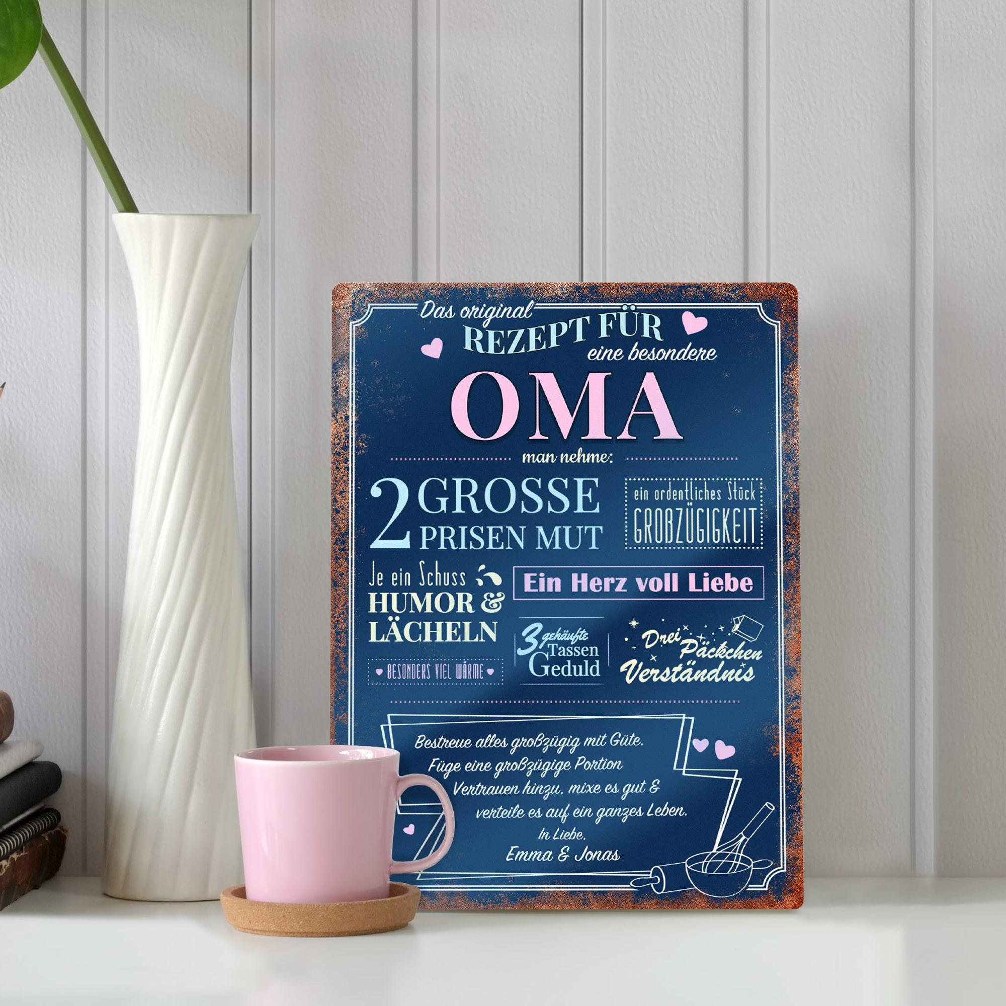 Persönliches Geschenk für Oma - Personalisiertes Wandschild